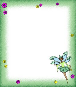 Green Fairy Notepaper - Blank