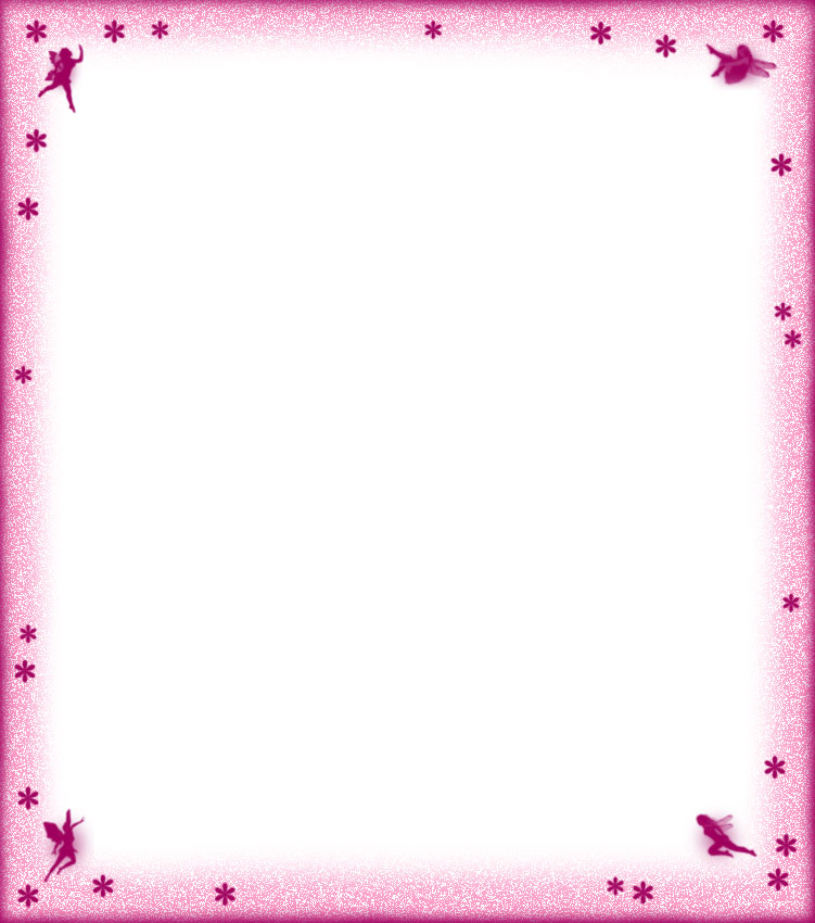 Blank Fairies and Flowers Notepaper (pink) - Rooftop Post Printables