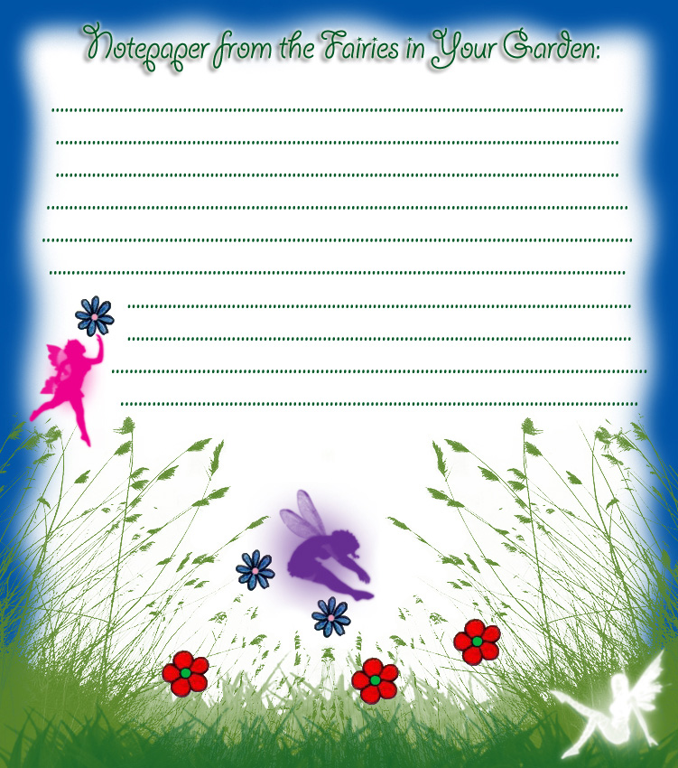 Notepaper from the Fairies in Your Garden | Rooftop Post ...