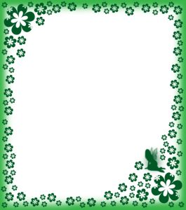 Printable paper with green fairy design