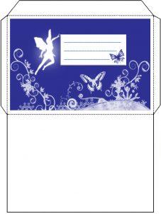 Printable fairy envelope