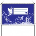 Printable fairy envelope