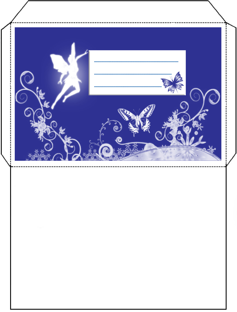 Fairy Envelope - Rooftop Post Printables