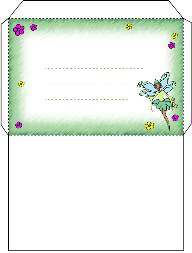 Green Fairy Envelope - Rooftop Post Printables