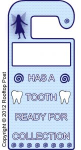 Printable Tooth Fairy door hanger - just add your child's name