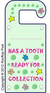 Printable Tooth Fairy door hanger