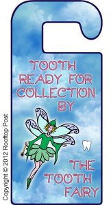 Printable door hanger to tell the Tooth Fairy there's a tooth ready for collection