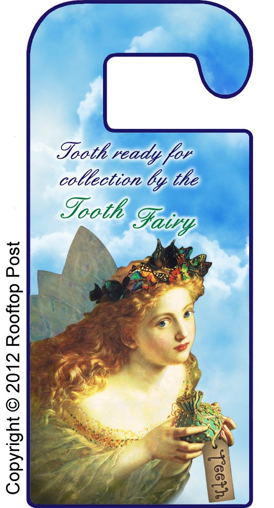Printable doorhanger to tell the Tooth Fairy there's a tooth ready for collection