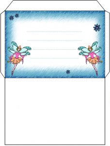 Fairy envelope with twin fairy design