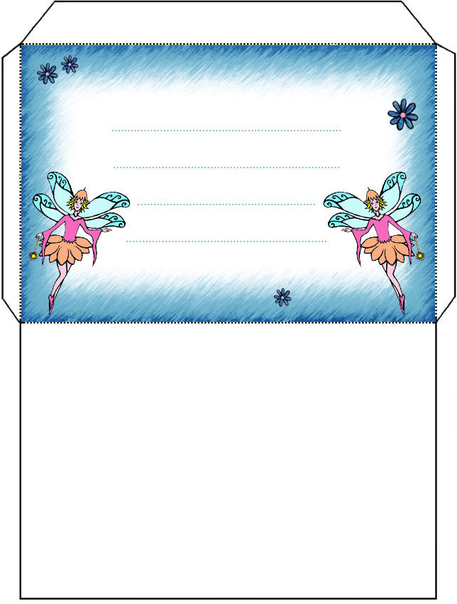 Twin Fairy Envelope - Rooftop Post Printables