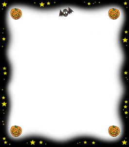 Blank notepaper to use at Halloween