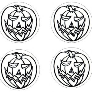 Halloween pumpkin coasters