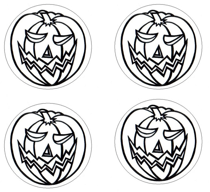 Halloween pumpkin coasters