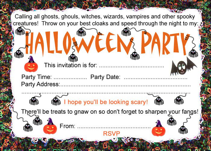 Halloween party invitation rooftop post printables for Free halloween invites templates