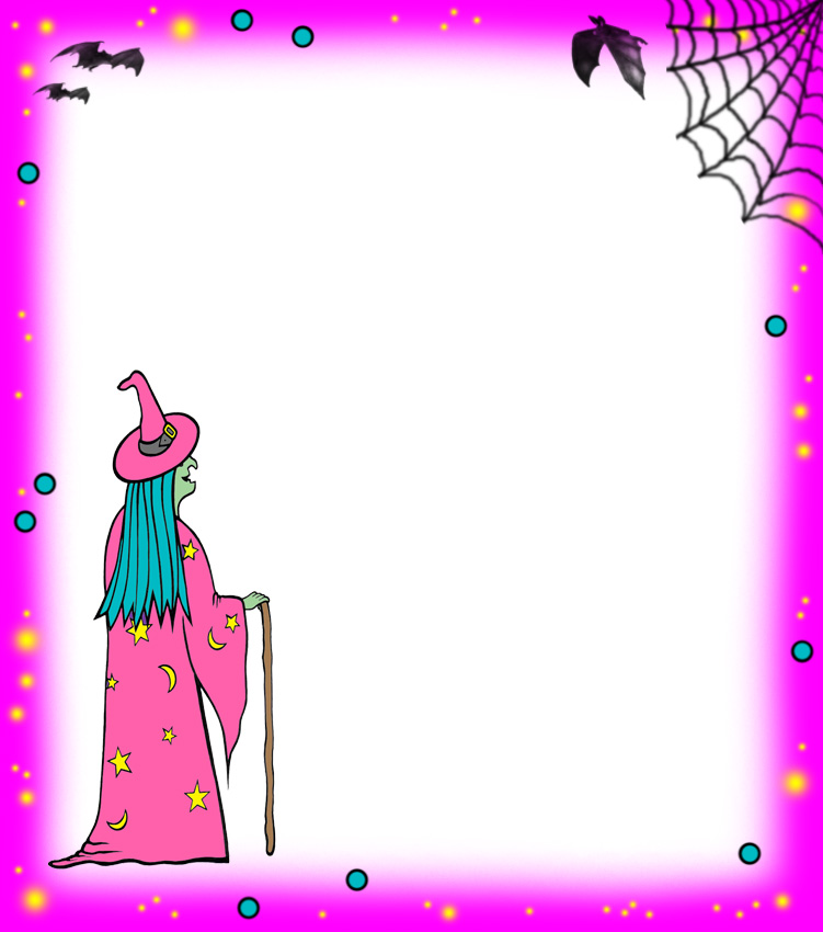 Blank pink witch notepaper