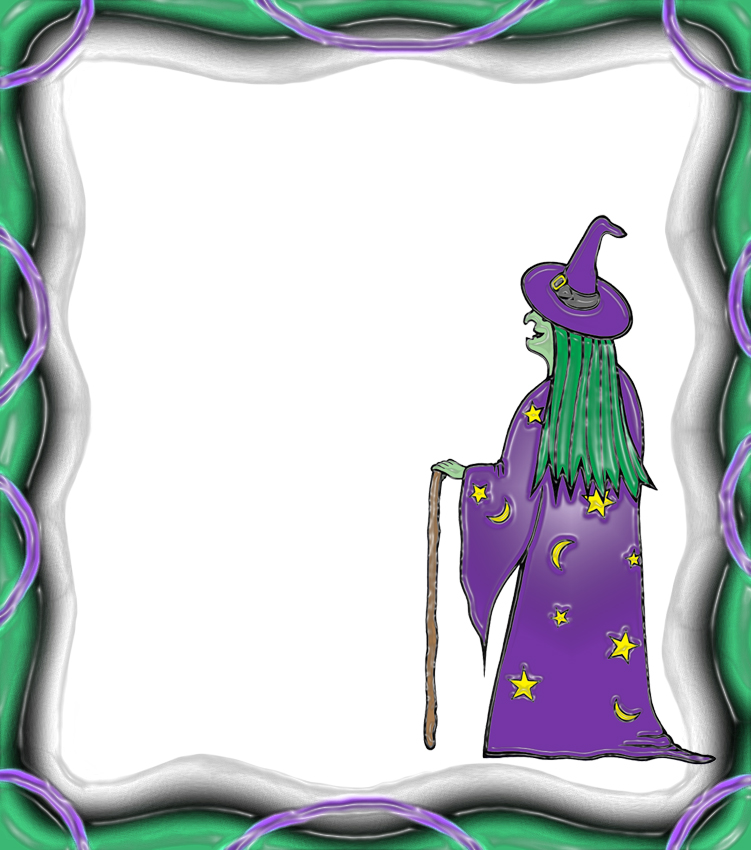 witch themed notepaper - blank