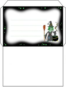 Printable witch's brew envelope
