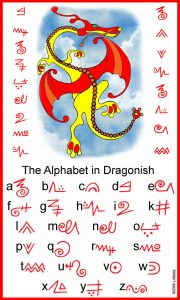 Alphabet in Dragonish - the lanuage of dragons!