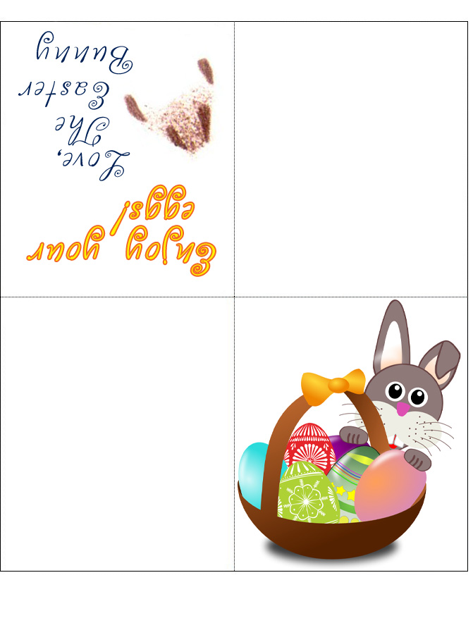 A printable card from the Easter Bunny