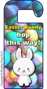 Printable Easter Bunny door hanger