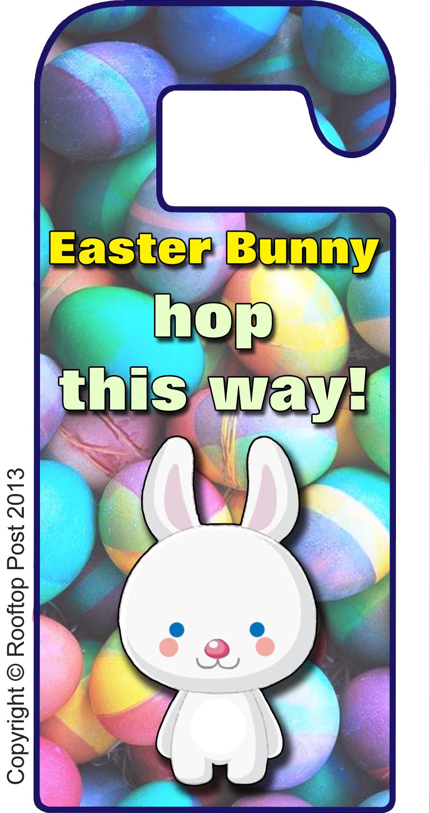 Printable Easter Bunny door hanger