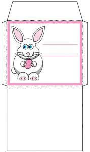 Mini Easter Bunny Envelope: Pink