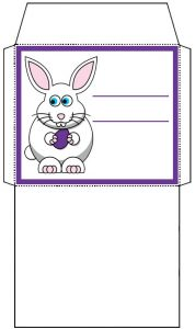 Mini Easter Bunny Envelope: Purple