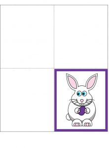 Printable four fold card from the Easter Bunny