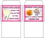 Matching tiny Tooth fairy envelopes for teeth and money