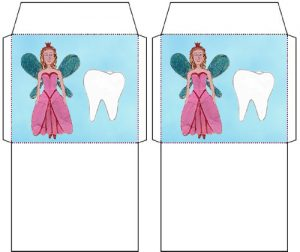 Tiny Tooth Fairy Envelope: One for a Tooth, One for Money