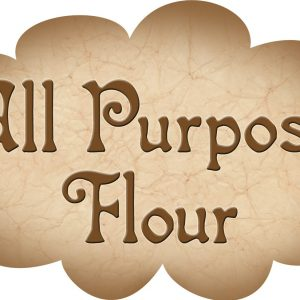 Printable label for all-purpose flour