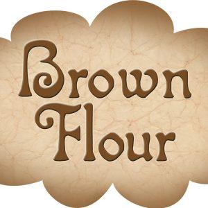 Printable label for brown flour