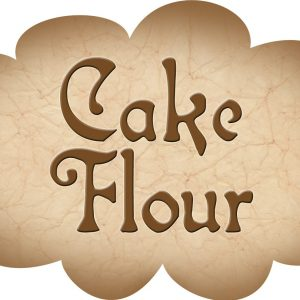 Printable label for cake flour
