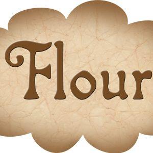 Printable label for flour