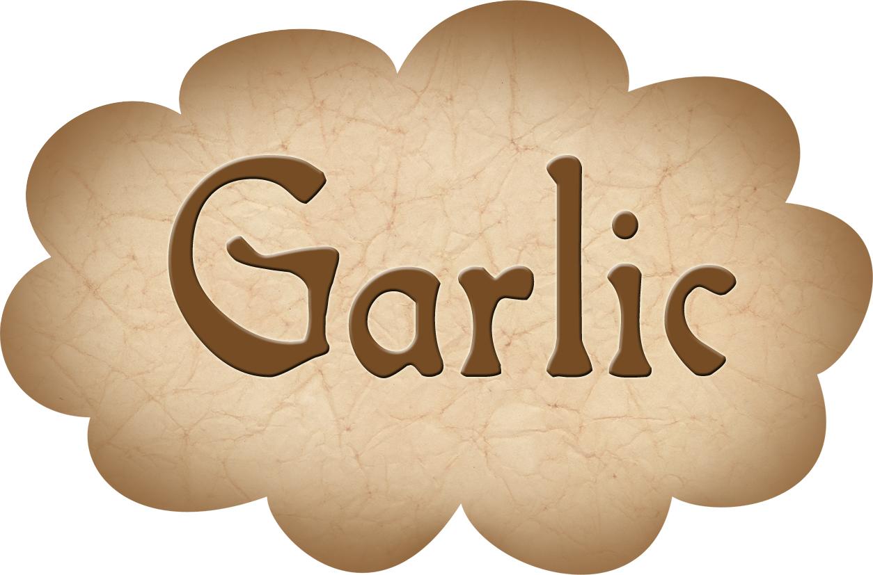 pantry label  garlic