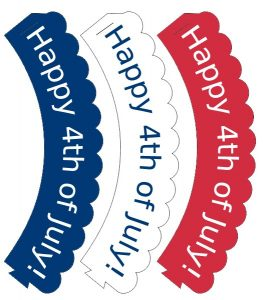 Happy 4th of July cupcake wrappers