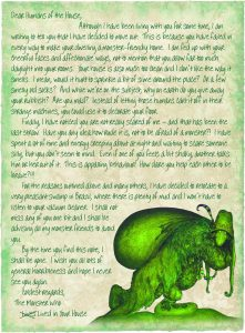 letter from the monster who lives in your house, saying that he's moving out.