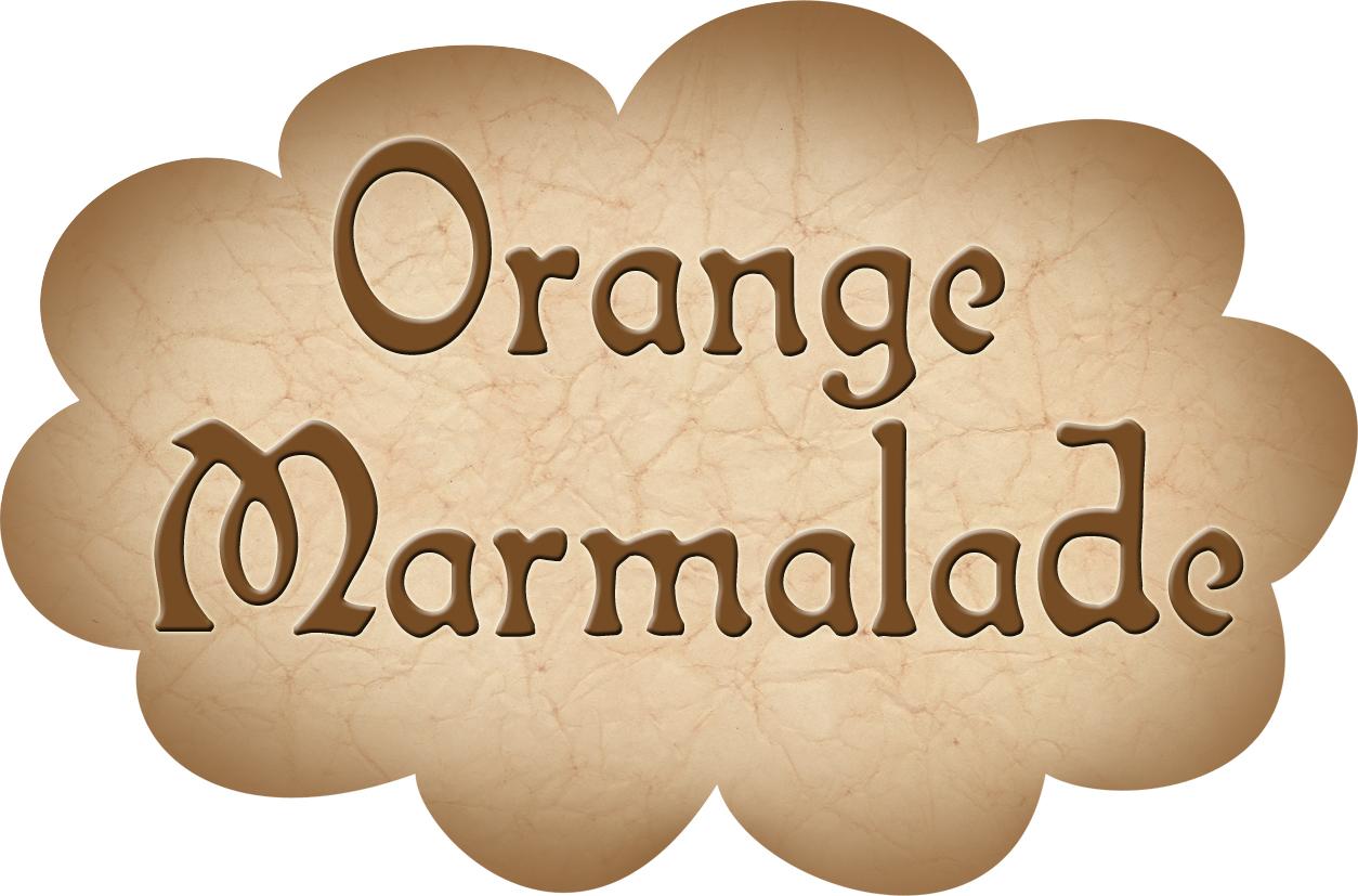 pantry label  orange marmalade