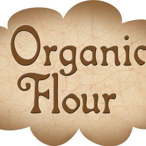 Printable label for organic flour