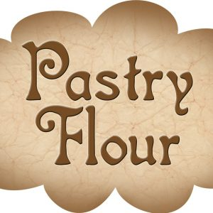 Printable label for pastry flour
