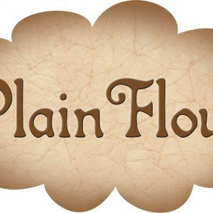 Printable label for plain flour