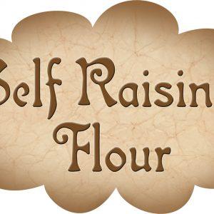 Printable label for self-raising flour