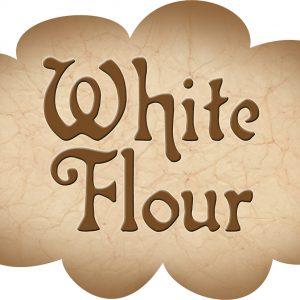 Printable label for white flour