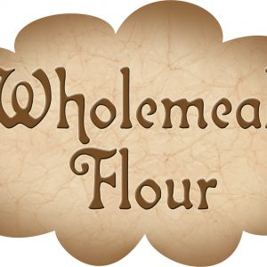 Printable label for wholemeal flour