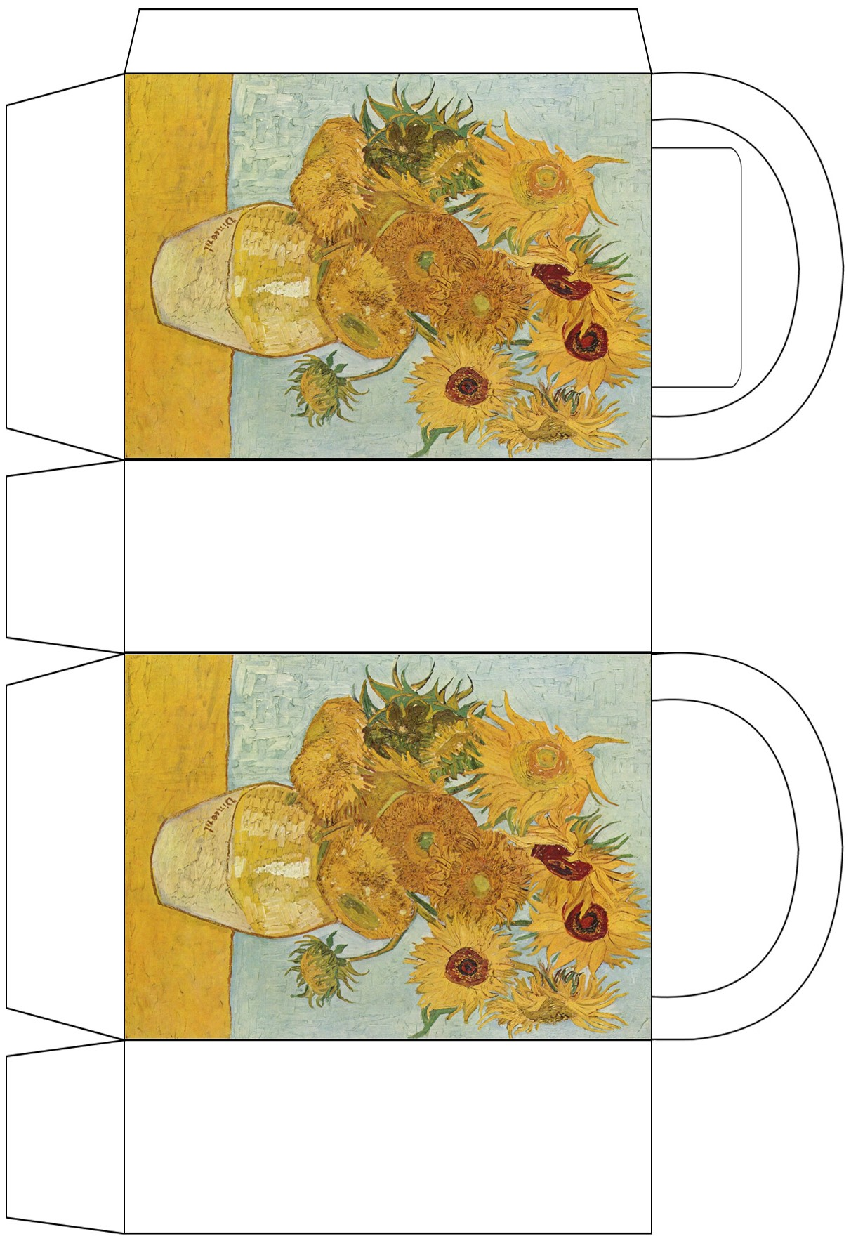 Van Gogh Sunflowers Party Bag Rooftop Post Printables