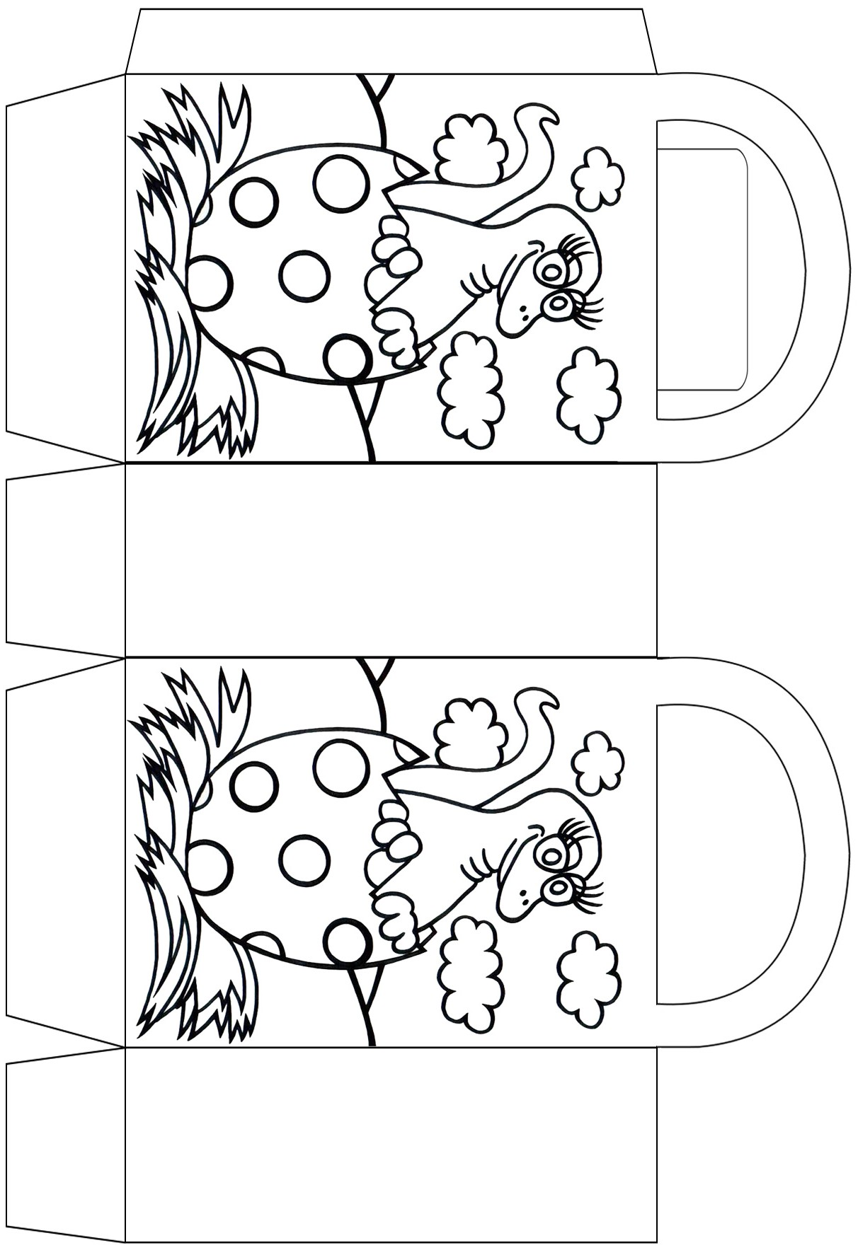 Dinosaur egg party bag to colour in
