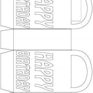 Birthday party bag to colour in