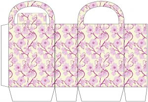 Pink and Cream Floral Party Bag
