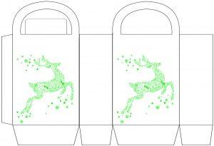 Green Reindeer Party Bag