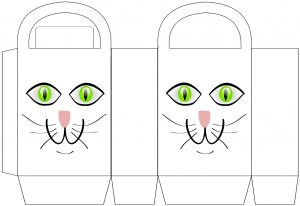 Free printable cat party bag